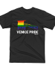 Venice Pride Flag Lifeguard Tower Tee - Black