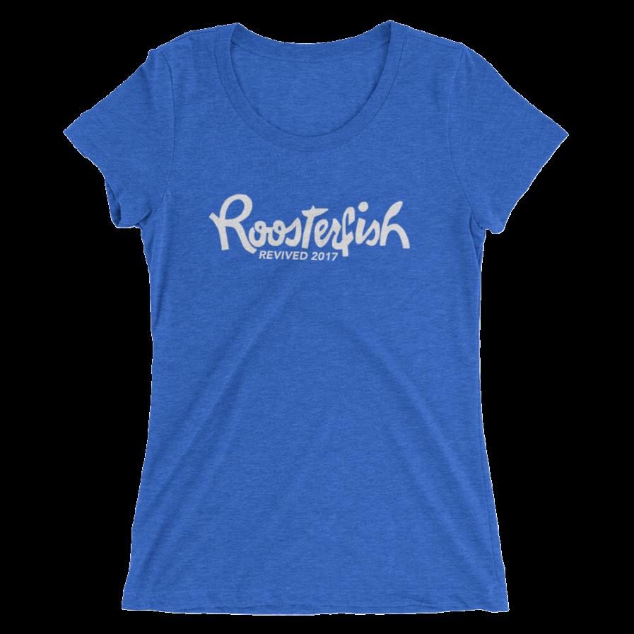 Roosterfish Revived Ladies Tee - True Royal Triblend