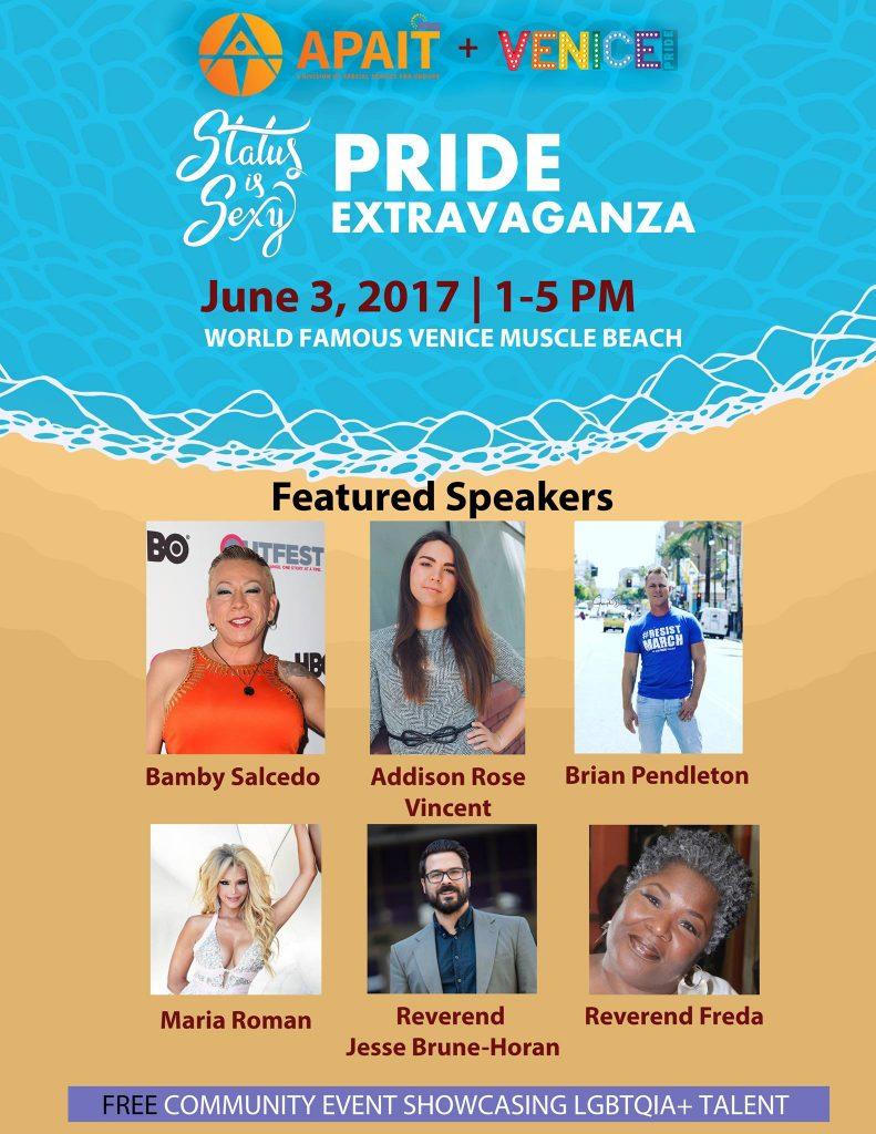 Status is Sexy Pride Extravaganza Speaker List