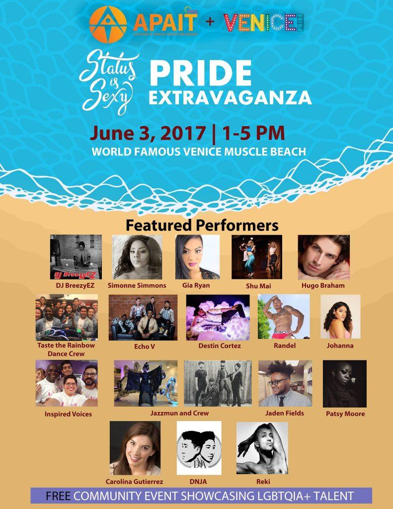 Status is Sexy Pride Extravaganza Performers List