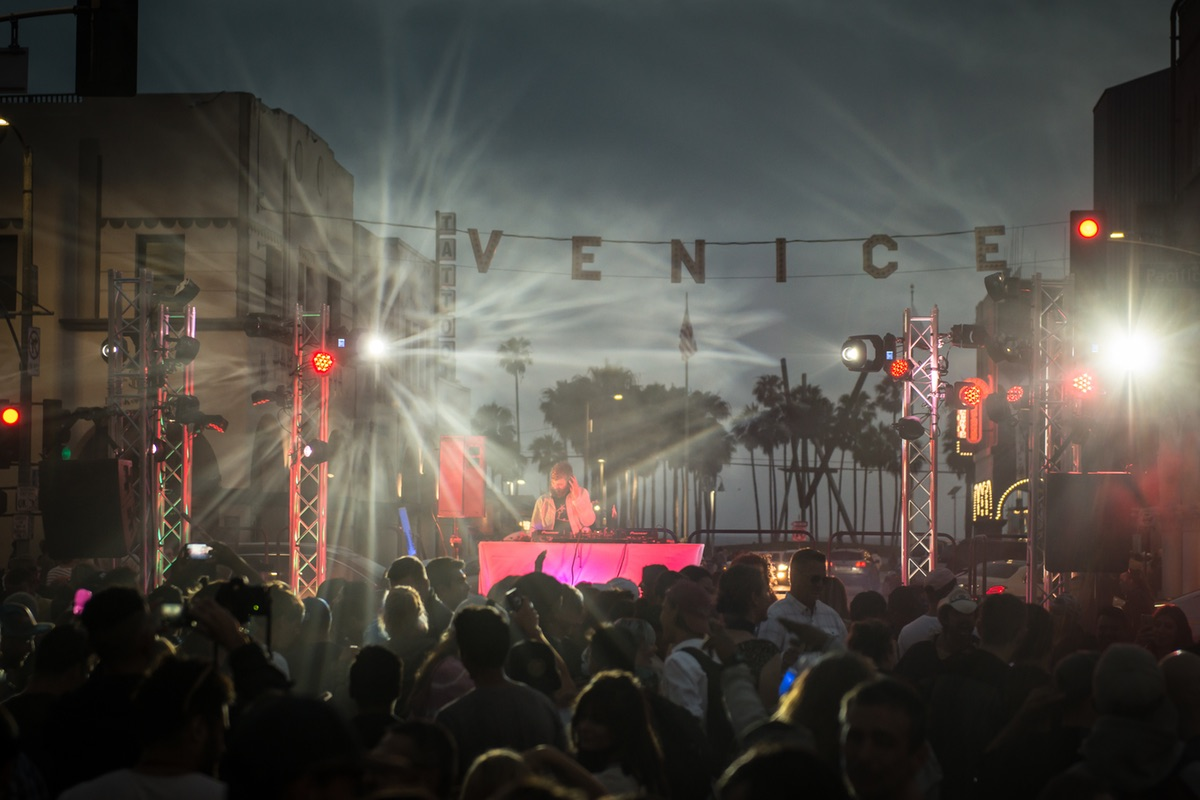 Crowd at Venice Pride Sign Lighting & Block Party 2017