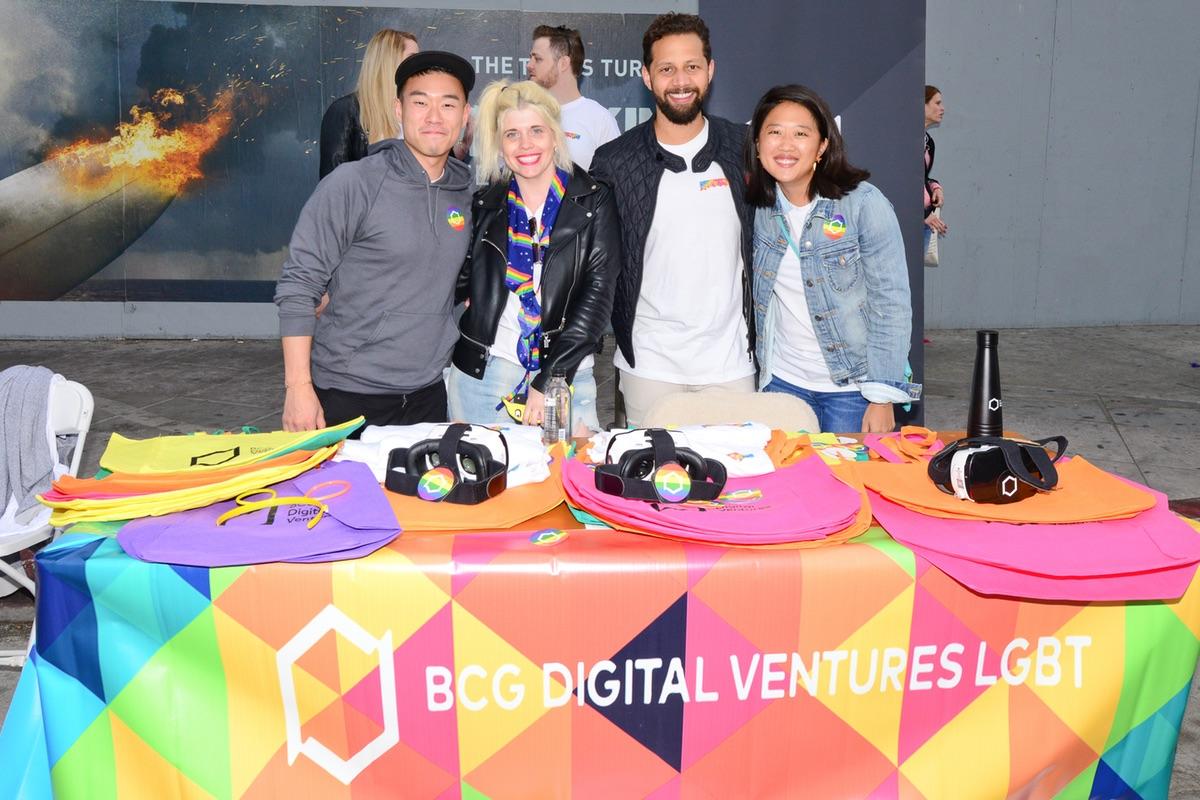 BCG Digital Ventures Pride Partner Table at Venice Pride 2017