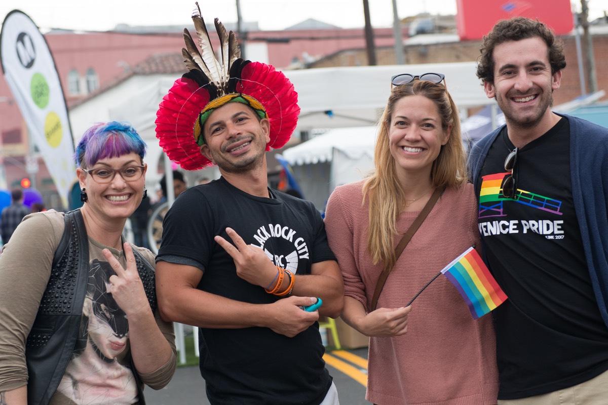 Attendees enjoy Venice Pride 2017
