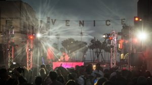 Venice Pride Sign Lighting & Block Party
