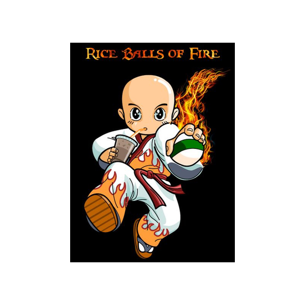 Rice Balls of Fire Food Truck Logo